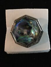 Judith Jack Sterling Silver 925 Marcasite Abalone Ring Size 7