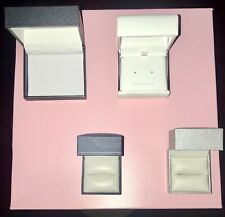 Lot Of Vintage Jewelry Presentation Hinged Gift Boxes Lot Of 4 Empty