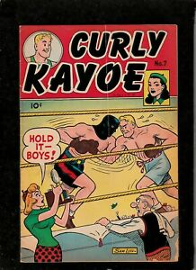 CURLY KAYOE #7 1950 UNITED FEATURES GOLDEN AGE BOXING/ SPORTS HUMOR