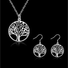 925 sterling silver Wish Tree Jewelry Sets Necklace & Earrings For Women's Gifts