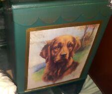 Golden retriever designer tissue box cover