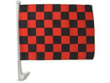 "12x18 Black Red Checkered Checker Racing Premium Car Window Vehicle 12""x18"" Flag"