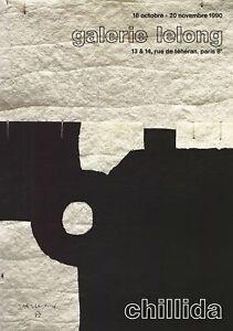 EDUARDO CHILLIDA Galerie Lelong 28 x 19.5 Poster 1990 Abstract Black & White