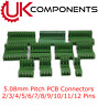 Green PCB Terminal Block Connector 5.08mm Pitch 2 3 4 5 6 7 8 10 11 12 PIN