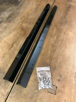 Gloss Black Steel FRONT door carpet retainer trims Land Rover Defender 90 Sills