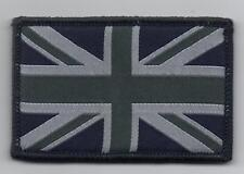 Union Jack Badge,  Blue & Grey, TRF, Military, Army, Sleeve, Arm, Patch