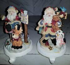 2 Santa Clause Stocking Hangers