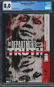 Department of Truth #1, CGC 8.0, 1st Printing, A+ Movie Option!, Key!