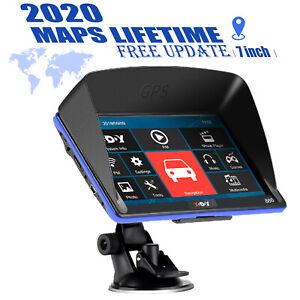 "7"" XGODY GPS Navigator For Car Truck Navigation Sunshade Free AU Map 256MB+8GB"