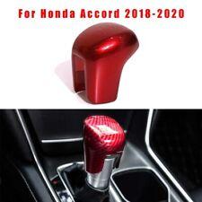 For Honda Accord 2018-2020 Red Carbon Fiber Style Gear Shift Knob Cover Trim