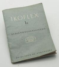 Bedienungsanleitung Zeiss Ikon IKOFLEX Ic 1c I-C Anleitung