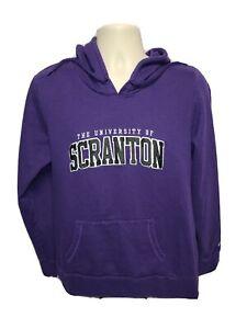 Champion The University of Scranton Womens Purple 2XL Hoodie Sweatshirt