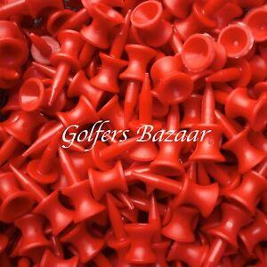25 X  RED  CASTLE GOLF TEES   FREE U.K. P&P