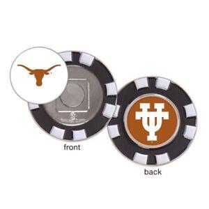 Texas Longhorns Poker Chip Golf Ball Marker