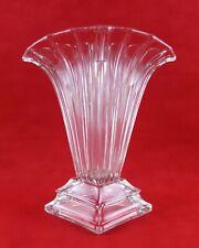 Vase en verre art déco signé tchecoslovaquie