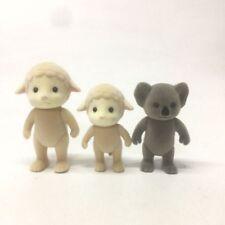 Lot 3PCS Sylvanian Families Sheep Family Mon Kid Koala Figure Xmas gift doll