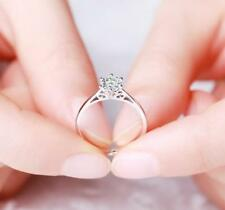 Pave .5 Ct CZ Silver SP Engagement Promise Simulation Ring RS14