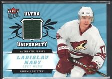 LADISLAV NAGY 2006/07 ULTRA UNIFORMITY COYOTES RELIC GAME USED JERSEY SP $20