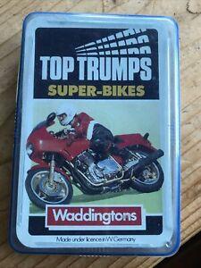 Super Bikes Top Trumps Motor Cycles Bikes Waddingtons Black Series Quartet