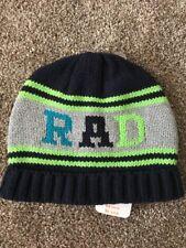e8f4c185f80 NWT Gymboree Boys RAD Knit Navy Green Beanie Winter Hat Large