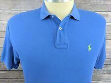 Polo Ralph Lauren Blue Polo 100% Cotton Mens Casual Shirt Size L