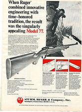 1975 Print Ad of Sturm Ruger Model M-77 Rifle Oliver Kemp