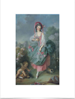JACQUES LOUIS DAVID MADEMOISELLE LIMITED EDITION BIG BORDERS ART PRINT 18X24