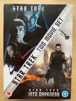 Star Trek + Into Darkness Box DVD Set 2009+2013 Fantascienza Film Doppio Bill