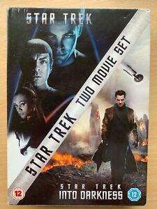 Star Trek + Into Darkness DVD Box Set 2009 + 2013 Sci-Fi Film Movie Double Bill