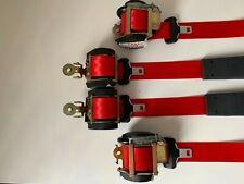 Juego de 4 cinturones de seguridad Rojos Renault Megane 2 3p seatbelt R26