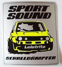 Aufkleber LEISTRITZ Schalldämpfer SPORT SOUND 80er Sticker Oldtimer Golf 1
