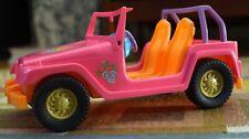 Barbie Jeep 2008 Mattel Car Wrangler Pink Orange Malibu Beach Cruiser, Shiny Euc