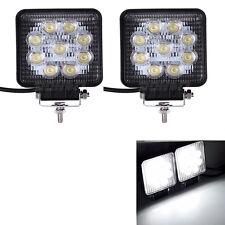 2pcs Square 27W ATV Car Truck LED Work Light Bar SUV Lamp 12V 24V For Arctic Cat