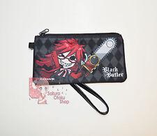 Black Butler Anime - Chibi Grell Sutcliff Zip Wristlet purse wallet kawaii