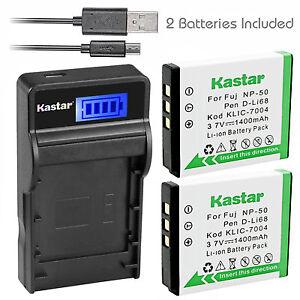 Kastar NP-50 Charger Battery Fujifilm F500EXR F505EXR F550EXR F600EXR F605EXR