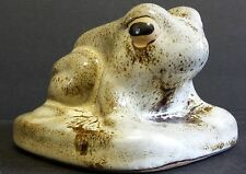 Pigeon Forge Tennessee Pottery Frog Green Brown Drip Glaze Signed D. Ferguson