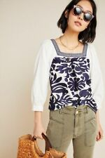 NEW  Anthropologie Liyah Embroidered Blouse top size 8 nwt