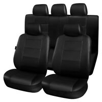 11Pcs Universal Black Car Seat Covers Side Airbag Compatible Full Set Protectors