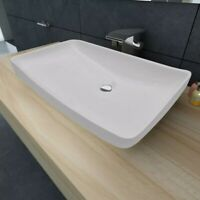 "28""x15"" Sinber Rectangle Ceramic Bathroom Vanity Vessel Sink Above Counter Basin"