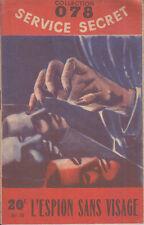 C1 Maurice LIMAT-  L ESPION SANS VISAGE 078 Service Secret 1951