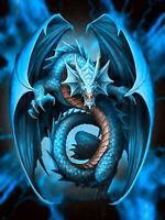Full drill Diamond Painting Cartoon Blue Pterosaurs Embroidery Handicraft 6437X