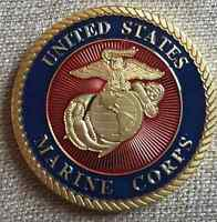 Oversize Poker Chip size USMC Marine Corp Golf Ball Marker Challenge Coin