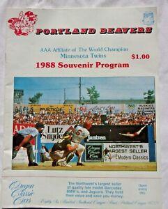 1988 Portland Beavers Souvenir Program (Excellent)