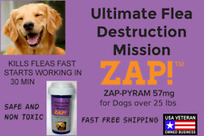 ZAP! Instant Flea Control Killer 100 Capsules 57mg Large Dogs >25lb FreeShipping
