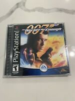 007 World Is Not Enough (Sony PlayStation 1, 2000) James Bond FACTORY SEALED