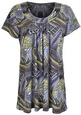 Womens Short Sleeve Top Dress Printed Plus Sizes 18 to 32 18/20 Print-2