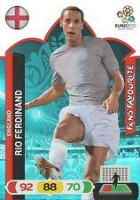 RIO FERDINAND # FAN'S FAVOURITE 1/36 ENGLAND CARD PANINI ADRENALYN EURO 2012