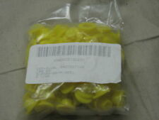 """lot of 100 military cap plugs protective 3/8"""" yellow"""