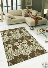LARGE BROWN & GREY/ PALE DUCK EGG BAROQUE RUG TAPESTRY STYLE RUG 155x230 1 ONLY