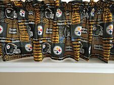 NEW NFL Pittsburgh Steelers Football Sports Valance Curtain
